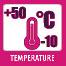 -10° - +50° között használható.